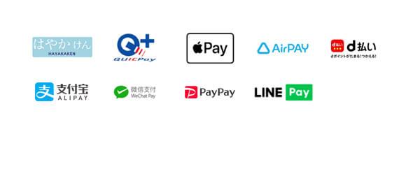 クレジットカード・QRコード決済・PAY